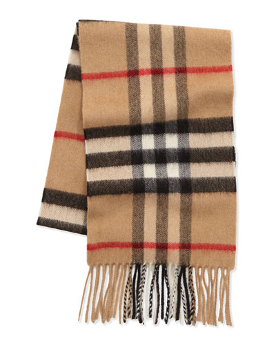 Burberry Kids' Check Cashmere Scarf