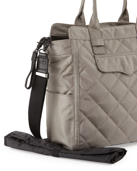 Teddy Tote Nylon Diaper Bag Stormy Gray