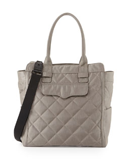 Rebecca Minkoff Teddy Tote Nylon Diaper Bag, Stormy Gray