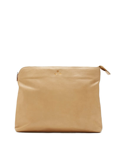 Rebecca Minkoff Luca Baby Carryall Leather Pouch, Nude