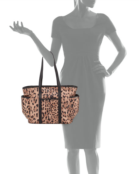 Marissa Animal-Print Nylon Diaper Bag