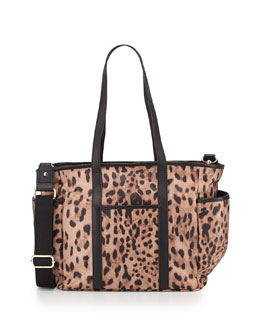 Rebecca Minkoff Marissa Animal-Print Nylon Diaper Bag