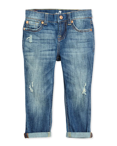 Josefina Distressed Jeans, Sizes 4T-6X