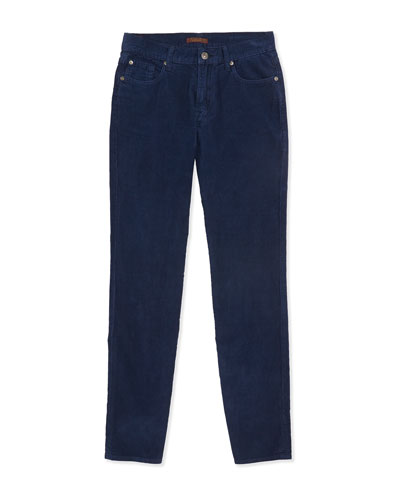 Standard Corduroy Jeans, Navy, Sizes 4-7