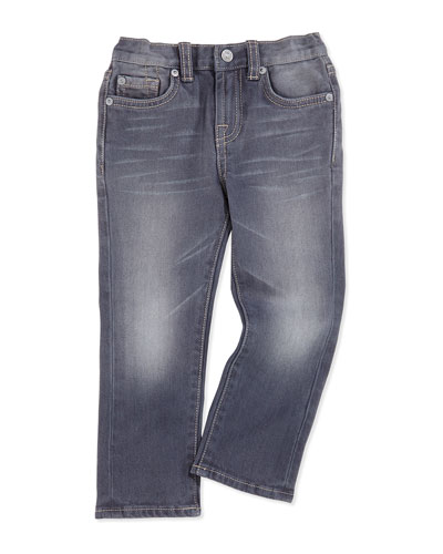 Straight-Leg Jeans, Vesper Gray, Sizes 4-7