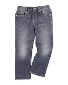 Straight-Leg Jeans, Vesper Gray, Sizes 7-14