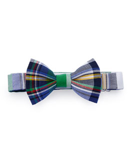 Baby Bow Tie Plaid Baby Bow Tie, Green Multi