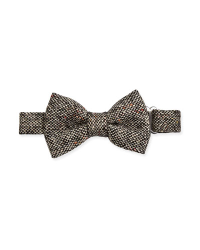 Tweed Baby Bow Tie, Black/White