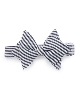 Baby Bow Tie Striped Baby Bow Tie, Black