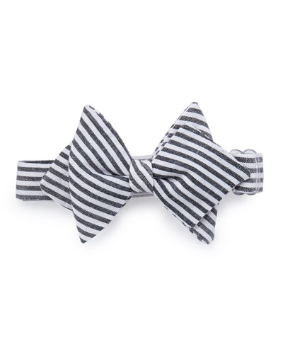 Striped Baby Bow Tie, Black