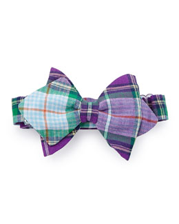Baby Bow Tie Plaid Baby Bow Tie, Purple
