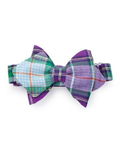 Baby Bow Tie Plaid Baby Bow Tie, Purple