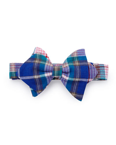 Baby Bow Tie Plaid Baby Bow Tie, Blue