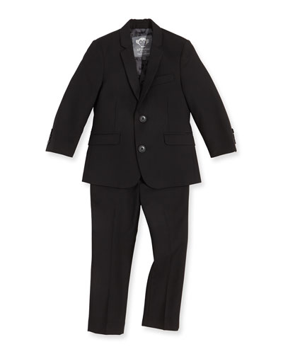 Boys' Two-Piece Mod Suit, Black, 2T-14