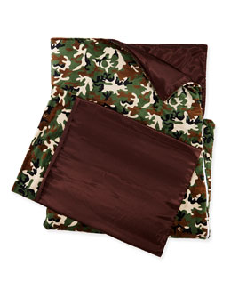 Swankie Blankie Camouflage Sleeping Bag & Pillowcase Set
