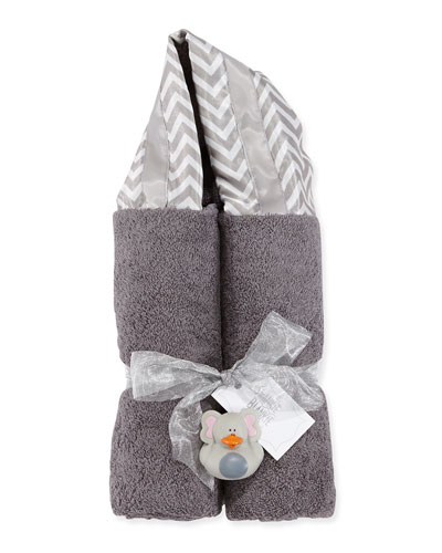 Swankie Blankie Chevron Hooded Towel, Slate