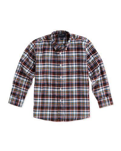 PLAID COTTON LONG SLEEVE