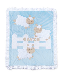 Boogie Baby Dreaming of Ewe Sheep Blanket, Blue