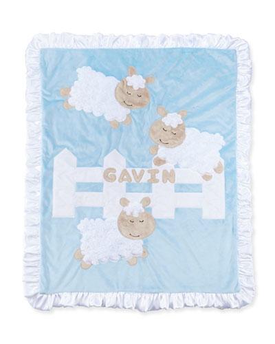 Boogie Baby Dreaming of Ewe Sheep Blanket, Blue