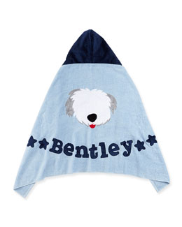 Boogie Baby Personalized Puppy Love Hooded Towel, Blue