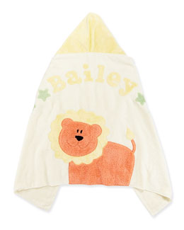 "Boogie Baby Personalized ""Wild Ones"" Animal Hooded Towel, Cream"
