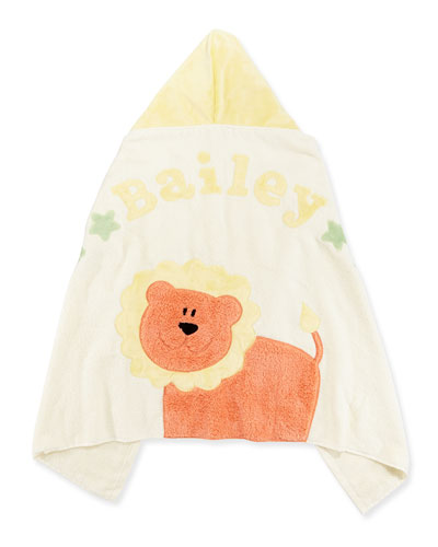 """Boogie Baby Personalized """"Wild Ones"""" Animal Hooded Towel, Cream"""