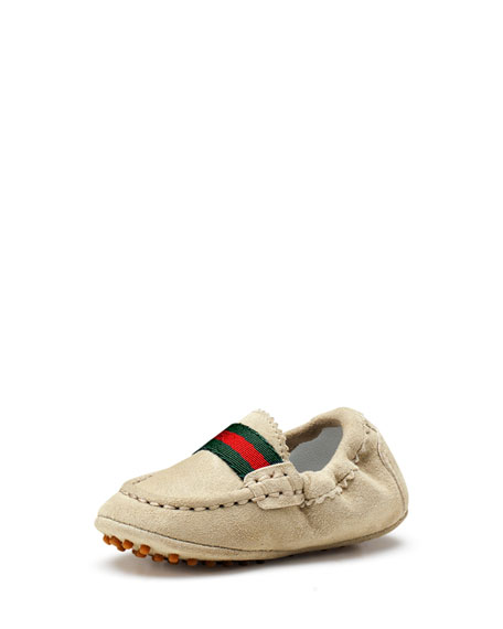 Gucci Baby Dandy Driving Shoes Ivory