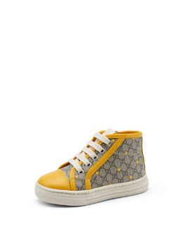 Gucci Toddler GG Star Supreme High-Top Sneaker, Yellow