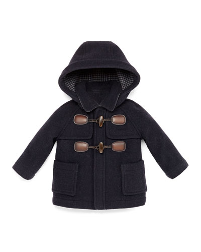 GUCCI Hooded Wool-Blend Toggle Coat, Navy