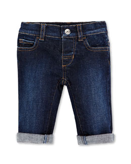 GUCCI Web-Detail Stretch-Denim Jeans, 0-36 Months
