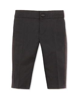 GUCCI Tuxedo Pants with Satin Stripe, Black, 3-36 Months