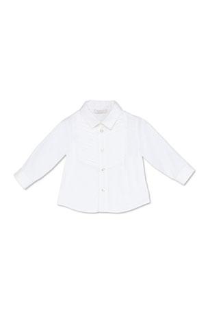 Gucci Stretch-Cotton Tuxedo Shirt, White, 3-36 Months