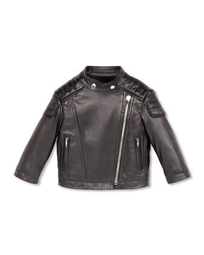 GUCCI Leather Biker Jacket, Black