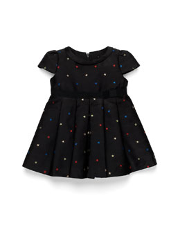 GUCCI Star-Embroidered Dress, Black, Girls' 0-36 Months