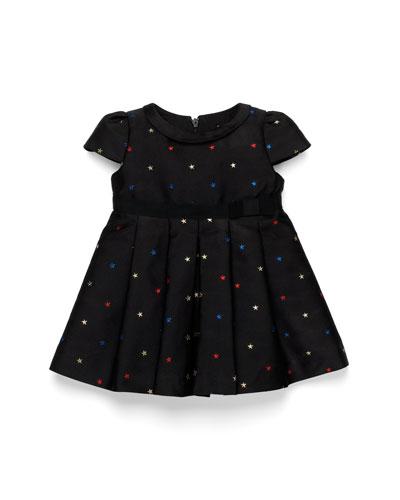 GUCCI Star-Embroidered Dress, Black, Girls' 0-36 Months