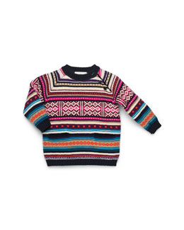 GUCCI Multicolor Knit Sweater Dress, Girls' 0-36 Months