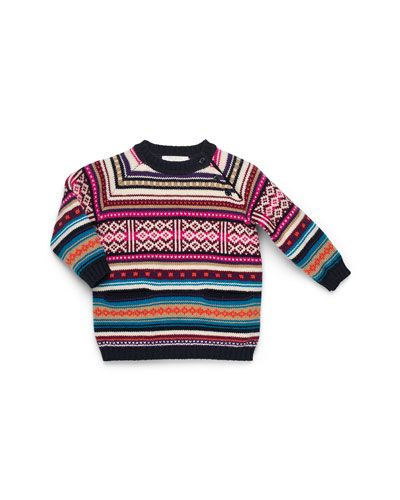 GUCCI Multicolor Knit Sweaterdress, Girls' 0-36 Months