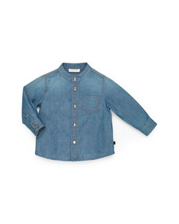 GUCCI Button-Down Denim Shirt, Girls' 0-36 Months