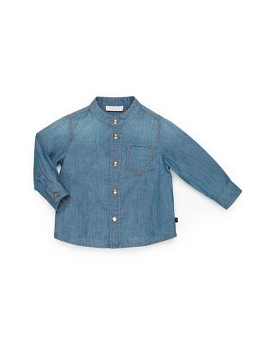 GUCCI Button-Down Denim Shirt, Girls' 0-36 Months