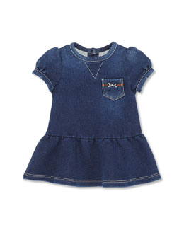 GUCCI Short-Sleeve Denim Dress, Girls' 0-36 Months
