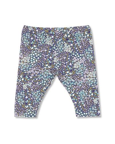 GUCCI Freesia-Print Leggings, Blue, Girls' 0-36 Months