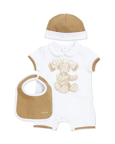 GUCCI 3-Piece Newborn Gift Set, 0-18 Months