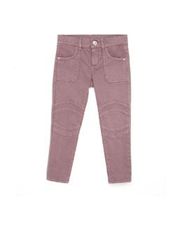 GUCCI Skinny Stretch Cotton Jeans, Amethyst, 4Y-12Y
