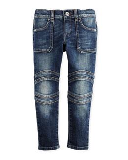 GUCCI Stretch Skinny Biker Jeans, 4-12