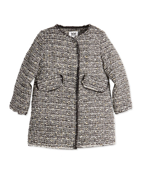 Milly Minis Metallic Tweed A-Line Coat, Girls' 2-7
