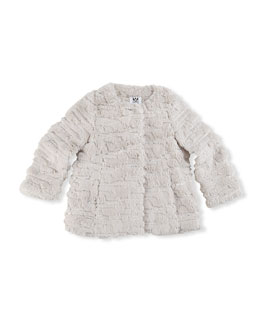 Milly Minis Sequin Faux-Fur Coat, Girls' 8-12