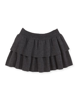 Milly Minis Tiered Knit Skirt, Sizes 2-7