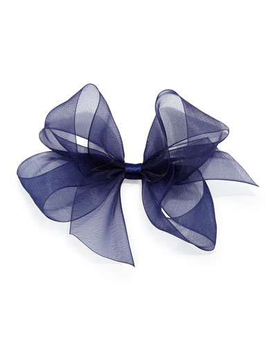 Bow Arts Small Chiffon Organdy Bow, Navy
