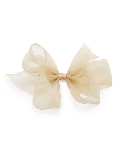 Bow Arts Small Chiffon Organdy Bow, Gold