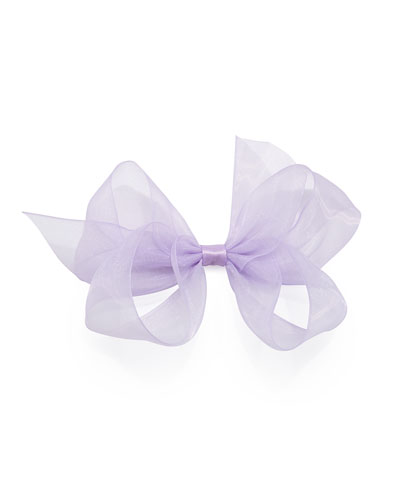 Small Chiffon Organdy Bow, Light Orchid